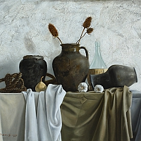 Still Life with jugs (70x100 cm) 2013