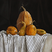 Still life with pumpkins (60x70cm) 2013