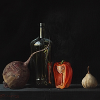 Still life with red pepper (50x60cm) 2013