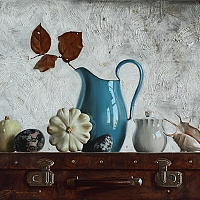 Still Life with blue jug (50x70cm) 2013