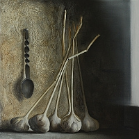 Still life with garlic (40x40cm) 2013