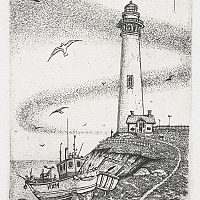 Lighthouse (12x9 cm, etching) 2014